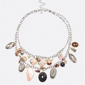 Avenue Jewelry - MIXED BEAD BLUSH SHAKER NECKLACE